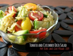 Tomato and Cucumber Orzo Salad