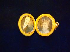 Esther's locket has a picture of her brother Enoch and her cousin Elsie Hultin.