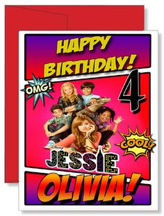 25 best personalized greeting cards images on pinterest personalized birthday greeting card disney show jessie m4hsunfo