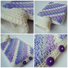 The Patchwork Heart: Hot Water Bottle Production Line Crochet Gifts, Free Crochet, Patchwork Heart, Pretty Mugs, Water Bottle Covers, Crochet Home Decor, Crochet Squares, Crochet Granny, Learn To Crochet