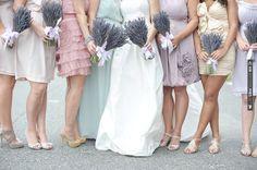 pastel bridesmaids & lavender bouquets | CHECK OUT MORE IDEAS AT WEDDINGPINS.NET | #weddings #bridesmaids #bridal #dresses #fashion #forweddings
