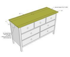 Ana White | Build a Kendal Extra Wide Dresser | Free and Easy DIY Project and Furniture Plans - alter plans slightly so six drawers getting deeper as they go down