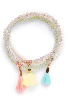 Cara Couture Tassel Bracelets (Set of 3) (Girls) available at #Nordstrom