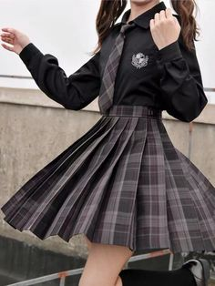Mode Outfits, Girl Outfits, Fashion Outfits, Emo Fashion, Dress Fashion, Cute Casual Outfits, Pretty Outfits, Cute Skirt Outfits, Mode Harry Potter