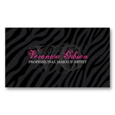 17 best 24 hour business cards images on pinterest business cards sassy zebra print makeup artist business cards colourmoves
