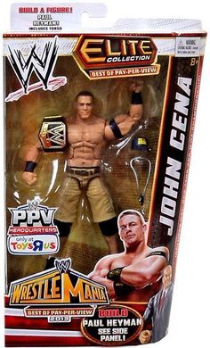 Mattel WWE Wrestling Exclusive Elite Wrestlemania 29 Best of Pay Per View Action Figure John Cena [Paul Heyman Build-a-Figure] (887961003871) Officially Licensed