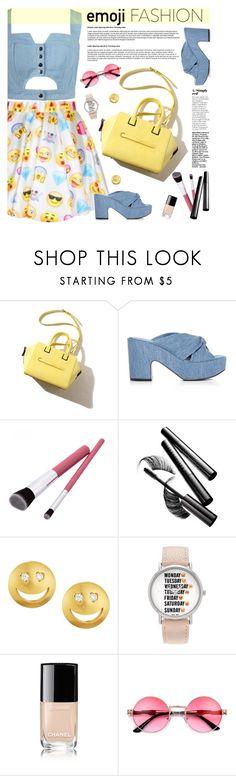 """Wink, Wink: Emoji Fashion"" by tamara-p ❤ liked on Polyvore featuring Robert Clergerie, Chantecaille, Chicnova Fashion, Tai, Geneva, Chanel and emojifashion"