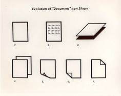 the evolution of the document icon, originally designed by Norm Cox for the Xerox Star. icon A Brief History of the Hamburger Icon Pixel Design, Computer Icon, Ui Design Inspiration, Web Layout, Retro Futurism, Graphic Design Typography, Interactive Design, Design Reference, Icon Design