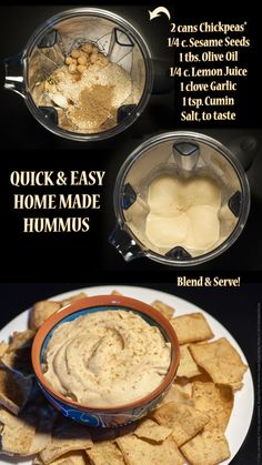 Quick and Easy Hummus Recipe - just blend and serve!