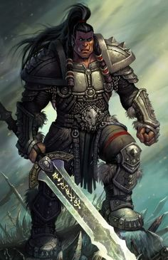 Ork-Commander Ork-Commander, character for yet another trading card game) Helen Blizzard Fantasy Races, Fantasy Armor, Medieval Fantasy, Dungeons And Dragons Characters, Dnd Characters, Fantasy Characters, Fantasy Character Design, Character Inspiration, Character Art