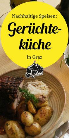 In der Gerüchteküche in Graz wirft der Haubenkoch lediglich saisonale, regionale Produkte in den Kochtopf. Freue dich auf ein schmackhaftes Mittagsmenü oder auf ein exquisite 3-Gänge-Dinner. Austria, Beef, Food, Graz, Sustainability, Meal, Products, Food Food, Meat