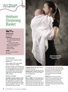 Heirloom Christening Blanket free crochet pattern