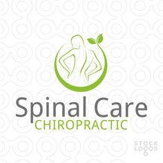 Logo created for a chiropractor. Logo recommended for anyone taking care of problems with the spine and looking for a new visual identity.