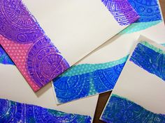 Easy-to-make foam printing plate stamps create fabulous textured  Gelli  prints! Watch this video to see how to create DIY foam stamps for ...