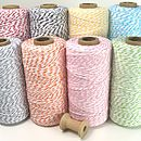 Cotton Bakers Twine by Peach Blossom, the perfect gift for Explore more unique gifts in our curated marketplace. Spool Knitting, Modern Vintage Fashion, I Cord, Ribbon Wrap, Bakers Twine, Wedding Favours, Wedding Stationery, Wedding Ideas, Craft Materials