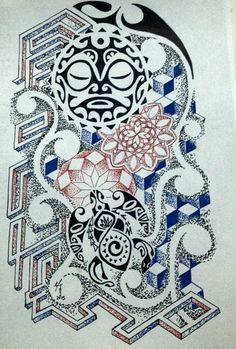 mix: polinesiano - geometric - maori - dot work
