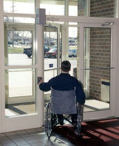 Automatic door openers allow easy access around the house for wheelchair users by eliminating the need to manually open doors. It can be operated tu2026 & Automatic door openers allow easy access around the house for ...