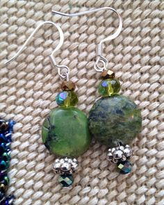 Green Turquoise earrings  on Etsy, $40.00