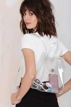 Nasty Gal x Nila Anthony Nothin' to Hide Clear Backpack
