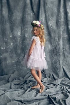 Nellystella Love Fiona Dress in Lavender Fog