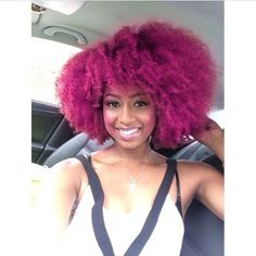 Pink Hair - http://www.blackhairinformation.com/community/hairstyle-gallery/natural-hairstyles/pink-hair/ #naturalhairstyles