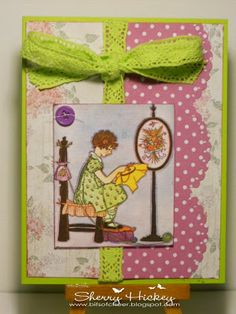 """Bits of Cheer: """"Sew...a needle pulling thread..."""" Words 2 Scrap By Challenge blog."""