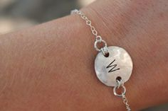 Custom Initial Monogram or Name Chain Bracelet by TheEllieRoseShop, $35.00