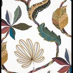 Textilgallerian Tahiti brun Tahiti, All The Months, Less Is More, Patterns In Nature, All The Colors, Summer Time, Scandinavian, Plant Leaves, Vibrant