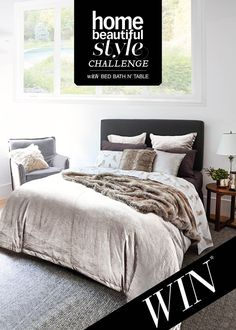 Home Beautiful Style Challenge with Bed Bath N' Table - Winter's Dream Style Challenge, Bed & Bath, Challenges, Change, Blanket, Table, Inspiration, Furniture, Beautiful