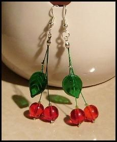 sweet cherries earrings