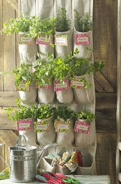 Give mom all the supplies she needs to make this vertical herb garden made from a shoe caddy. Or assemble it for her and hang it right up. Read more: http://www.birdsandblooms.com/blog/diy-mothers-day-gifts/#ixzz3DfQjaWiG