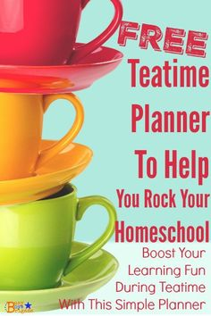 Teatime Planner is a free download for use in organizing & scheduling successful homeschool teatimes. Rock your homeschool teatime with this planner!