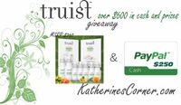 Truist Giveaway- October is here and that means its time for a new giveaway! This month I am happy toannounce theTruist™ Giveaway. The Truist Giveaway has over $600 in cash and prizes! Nineproducts from theTruist™ product line valued at $360and $250 paypal cash, provided by