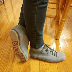 Das Kitten Testicle Grey boots from Athiest Shoes in Berlin! Full grain nubuck is so soft, these are the most comfortable footwear ever (no kittens were harmed in the making of these boots!)