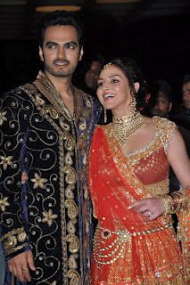 Bollywood Celebrities at Esha Deol and Takhtani's Sangeet Ceremony | Bollywood Cleavage