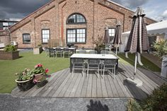 Kebony SYP terrasse at Fiskar's office in Norway