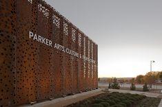 lasergeschnittene gelochte Cortenstahl-Fassadenplatten