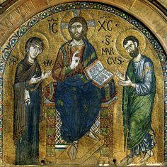 Main portal mosaic (detail), Basilica di San Marco, Venice, c.1250