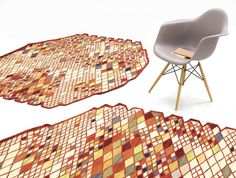 The Bouroullec brothers continue their study of simplicity and elegance with their new Losanges collection. It's about reinterpreting the traditional Persian rug using the ancient kilim technique.