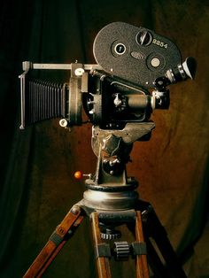 Old movie camera.  It's old. It took (or takes) video.  It's interesting.