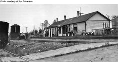 Old Duluth Winnipeg & Pacific depot at Ranier, Minnesota.