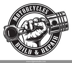DGIM studio presents Motorcycle BUNDLE. This great product will be awesome for interior design, t-shirt prints, signboards, business cards, posters and many more. Motorcycle Tattoos, Motorcycle Logo, Bike Logo, Vintage Motorcycles, Logo Design Inspiration, Motorbikes, Hand Holding, Illustration, Engine Repair