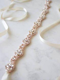 Radient Frauen Handgemachte Vintage Luxus Sash Taille Gürtel Elegante Breite Glitter Strass Perlen Cummerbunds Band Hochzeit Braut Bund Weddings & Events