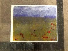 Poppy field Gelli print