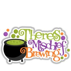 There's Mishchief Brewing SVG Scrapbook Title witch halloween svg cut file free svg cuts cute svg cuts