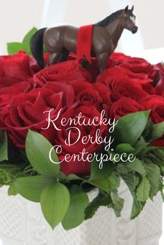 Get Derby-Ready With This DIY Rose Centerpiece --> http://www.hgtvgardens.com/crafts/make-a-kentucky-derby-party-centerpiece?soc=pinterest