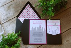Wedding Invitation  Philadelphia Skyline by birdhousestationery