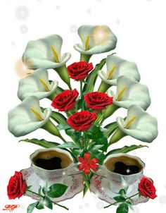 99846923 Cup of love Good Morning Arabic, Good Morning Roses, Good Morning My Love, Good Morning Coffee, Good Morning Images, Beautiful Flowers Wallpapers, Beautiful Rose Flowers, Pretty Wallpapers, Coeur Gif