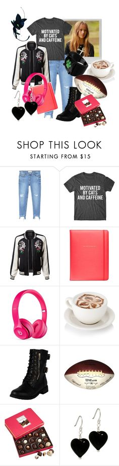 """Charlie- Favorite Things"" by rarimena ❤ liked on Polyvore featuring Polaroid, MANGO, LE3NO, Kate Spade, Beats by Dr. Dre, Harry London, outfit and OC"