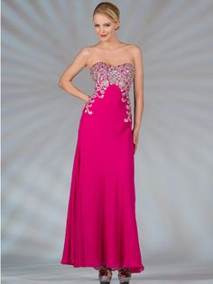Sweetheart Strapless Jeweled Evening Dress. Style #: JC2504. Available in blue, fuschia, and jade.  Get yours today@ www.SungBoutiqueLA.com!